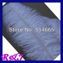 EMS Free shipping Cheap ostrich drab feather 50pcs 18-20 inches 45-50cm white ostrich plumes