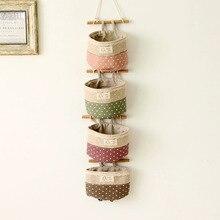 Хлопковая льняная Сумочка sundry настенная дверь ключ подвесные вешалки серии сумки для хранения макияж Органайзер
