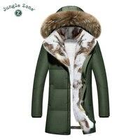 ขนาดบวกหนาฤดูหนาวผู้ชายลงเสื้อด้วยขนสัตว์ธรรมชาติผู้ชายเป็ดลงแจ็คเก็ตXXL XXXLข้นเสื้ออบอุ่น...