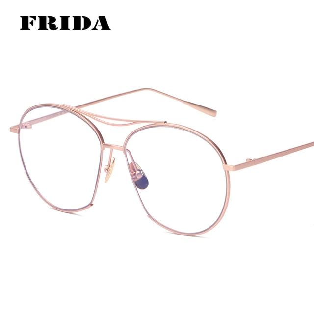 96ba33f2b60 BANSTONE Fashion Cut Off Trimming Frame Rose Gold Plain Glasses Brand  Design Eyewear Frame Glasses Frame Oculos De Grau
