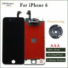 Дешевые Mobymax AAA Качество ЖК-дисплей Экран для iPhone 6 Дисплей сборки Замена с оригинальным планшета телефон Запчасти черный/белый + подарки