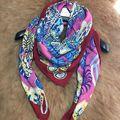 Temperament Print Women Winter Silk Wool Scarf Wraps Big Square Warm Scarves Shawl Cape Clothing Accessory