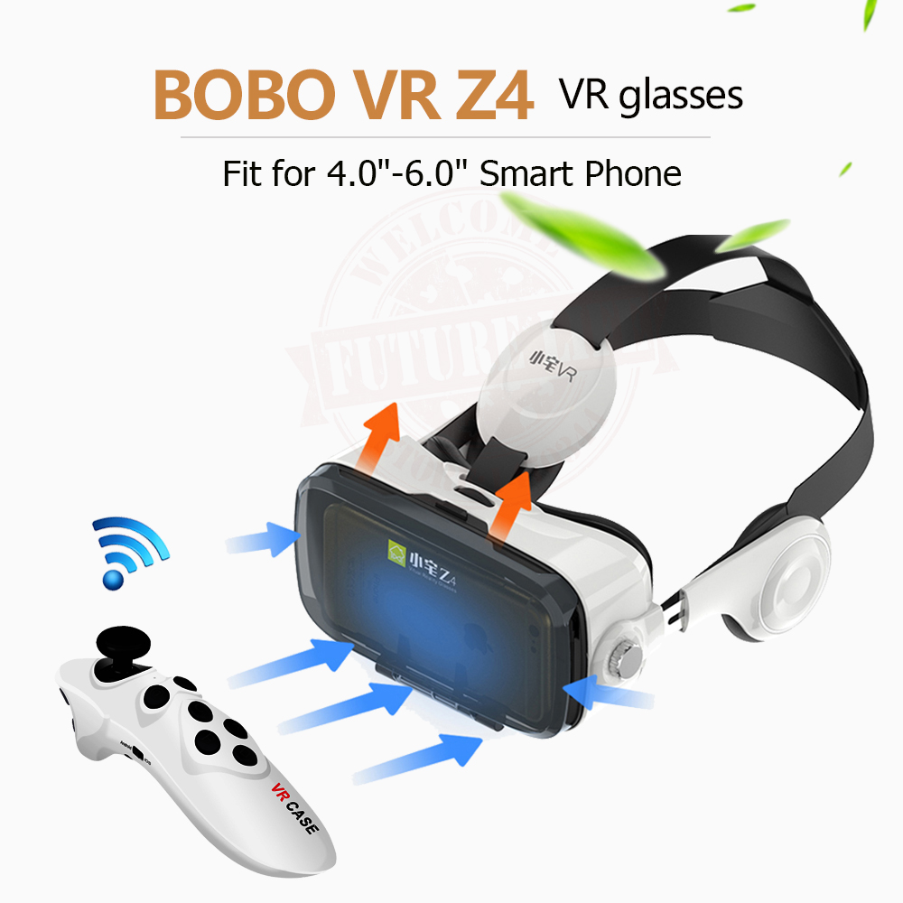 Virtual Reality Google Cardboard VR BOX Original bobovr Z4/ Z4 Mini 3D glasses+Bluetooth Controller for 4-6′ Smart Mobile Phone