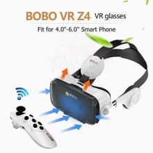 La Réalité virtuelle Google Carton VR BOÎTE D'origine bobovr Z4/Z4 Mini 3D lunettes + Bluetooth Contrôleur pour 4-6» Smart Mobile Téléphone