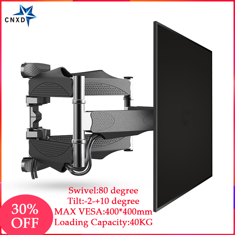 "Full Motion 32""-60"" LCD LED TV Wall Mount Retractable TV Rack Wall Mount Lcd Bracket 6 Swing Arms MAX VESA 400x400mm 6"