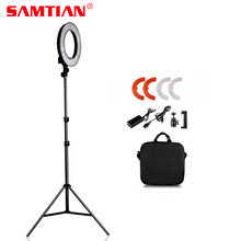 "12 ""180Pcs 5500K 4200W Dimmable Photography Photo / Studio / Telefon / Video Lampu Cincin LED Ring Dengan Stand Tripod Untuk Kamera"