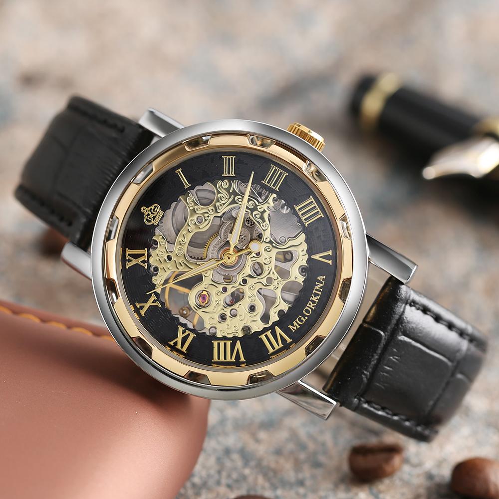 HTB1igrsQVXXXXbuaFXXq6xXFXXXE - MG.ORKINA Mechanical Skeleton Watch for Men