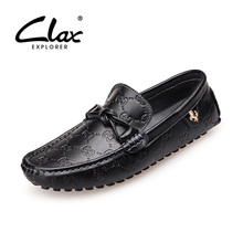 Clax Men's Loafer Leather Moccasin Shoe For Man Designer Flat Casual Footwear Male Soft Leather Shoe British High Quality(China (Mainland))