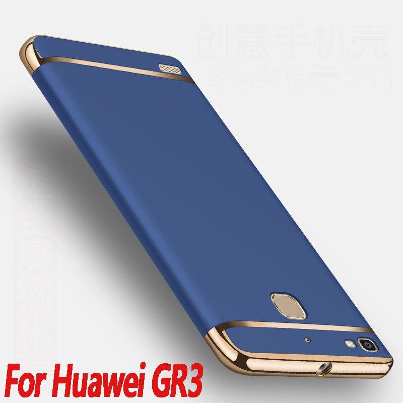 For Huawei GR3 case 5.0 Luxury Huawei GR3 cover 3 in 1 Hard Plastic Gold Plating Matte Case For Huawei GR3/ huawei enjoy 5s case