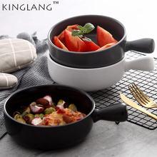 Посуда для выпечки с одной ручкой салата керамическая тарелка