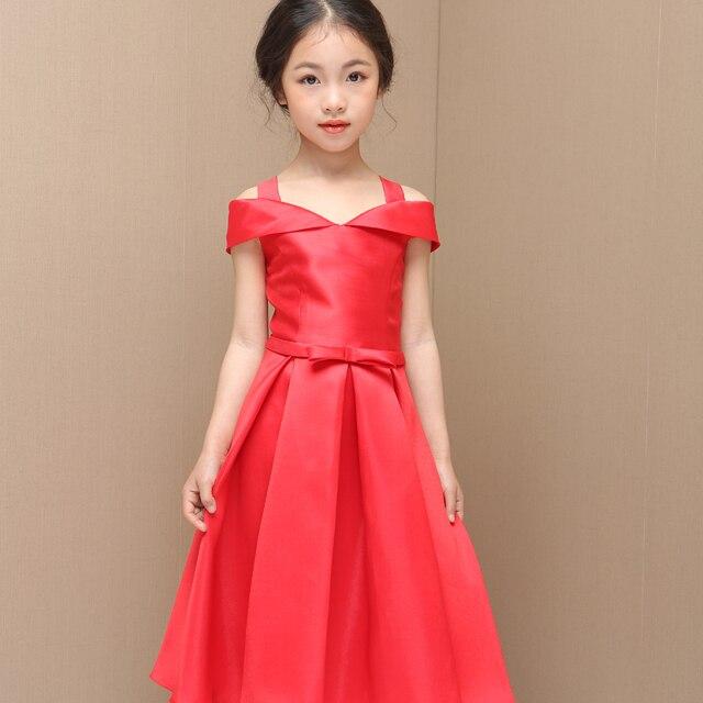 Satin Red Flower Girl Dress Patternsin Flower Girl Dresses From Amazing Flower Girl Dress Patterns