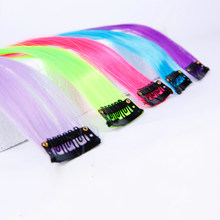 Allaosify Long Straight 1 Clip In Hair Extensions Fake Hairpieces Heat Resistant Synthetic Fake Hair Extensions Only One(China)