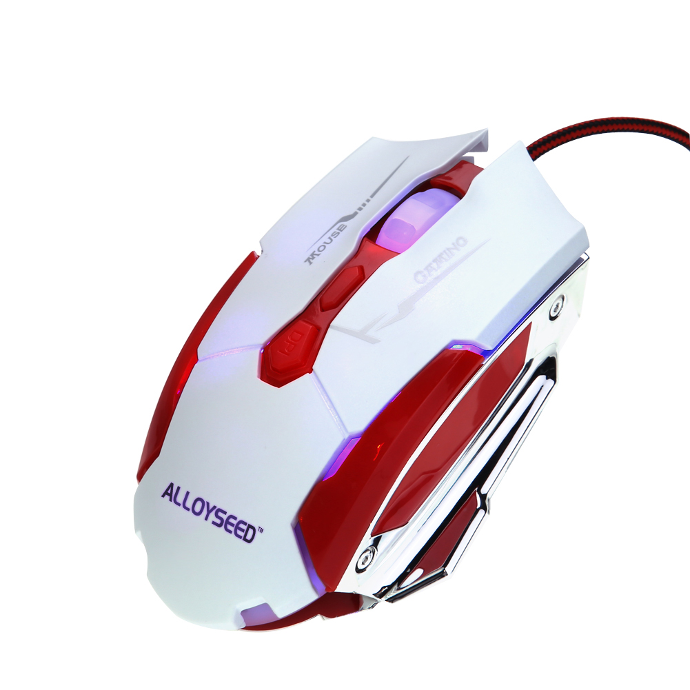 ALLOYSEED Mouse USB Wired Gaming Mouse 7 buttons 3200 dpi Mice LED Optical For Computer