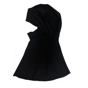 Image 2 - Haofan Muslimischen Schwimmen Hijab Hut Islamischen Kopf Tragen Hals Abdeckung Muslimischen One größe Schwarz Hut
