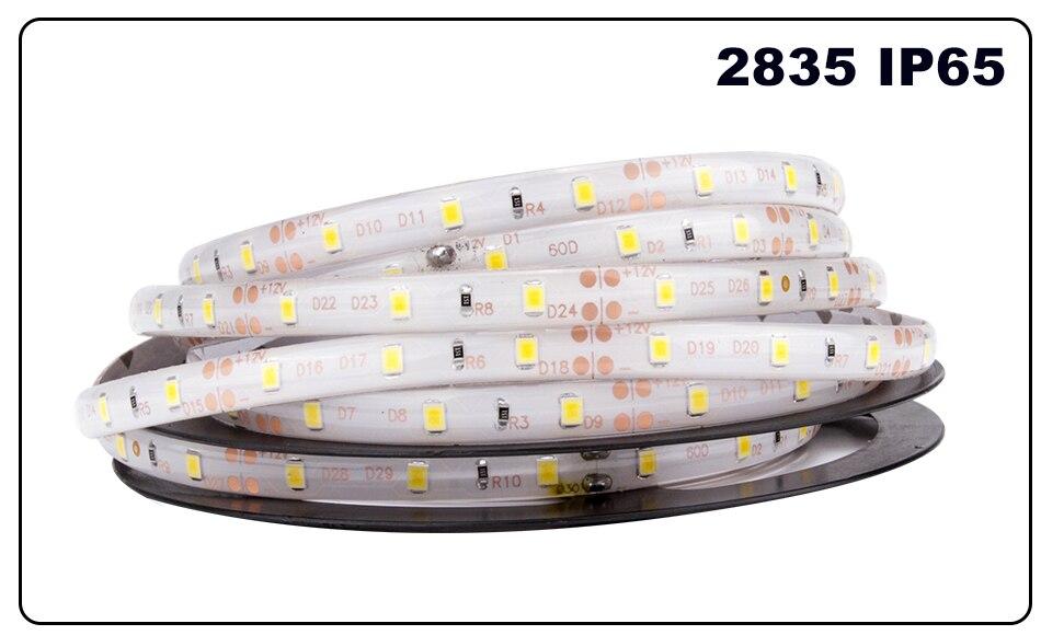 DC 12V LED Strip Light Flexible Diode Ribbon Tape RGB SMD 2835 5050 44Key Power Remote 5M 10M 15M Full Set Waterproof Lighting
