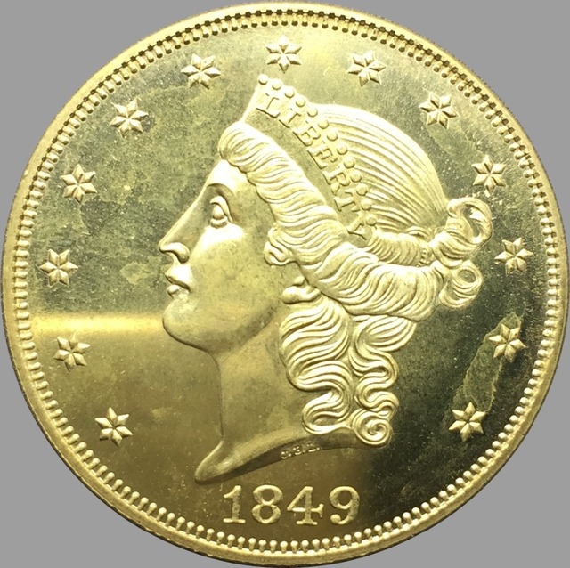 Vereinigten Staaten Liberty Head Gold Münzen 1849 Wert Zwanzig