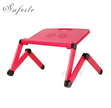 SUFEILE Laptop stand MultiFunctional Folding Laptop Table Desk Bed Sofa Tray 360 rolling Adjustable Portable Notebook Desk D15