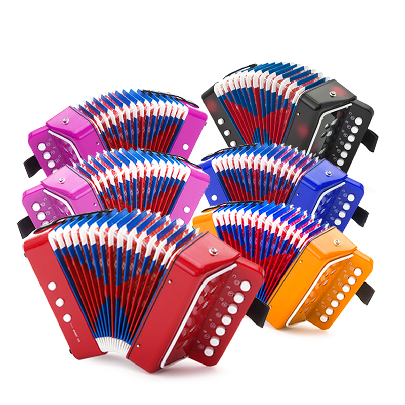 Mini Small Keyboard Accordion Rhythm Educational Musical Instrument Band Toy for Kids Musical Instruments Toys 5 Colors