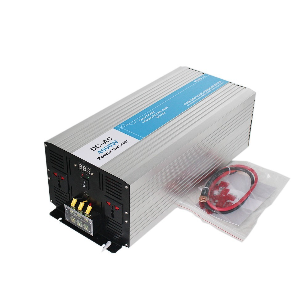 4000w pure sine wave inverter DC 12V/24V/48V to AC 110V/220V tronic power inverter circuits off grid tie off cheap 12 24 48 V dc to ac off grid tied pure sine wave 48v dc 220v ac power inverter 4000w peak 8000w