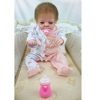 55cm Full Body Silicone Girl Bebe Reborn Doll Kids Toys Lifelike Newborn Girl Babies Doll Birthday Gift Bathe Toy Brinquedos Hot