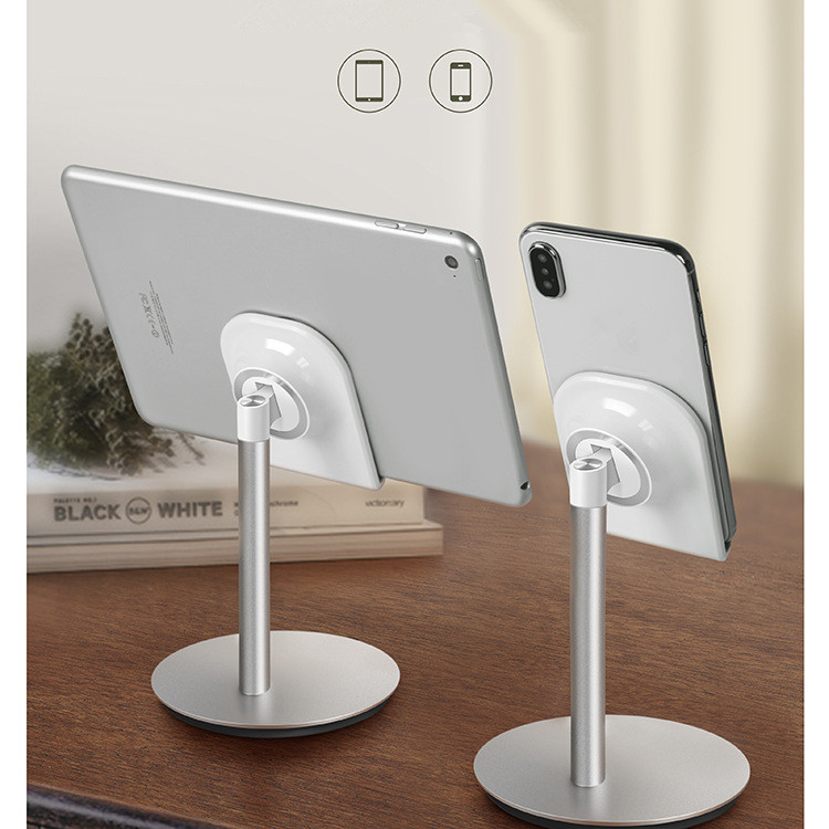 JXSFLYE Universal Aluminum Alloy Magnetic Desktop Mobile Phone Tablet PC holder Stand Bracket Rotating Holder for iphone xiaomi in Phone Holders Stands from Cellphones Telecommunications