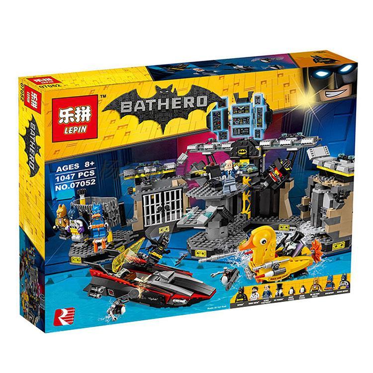 ФОТО Lepin 07052 1047pcs New Batman Movie Series Batcave Break-in Building Blocks Bricks With 70909