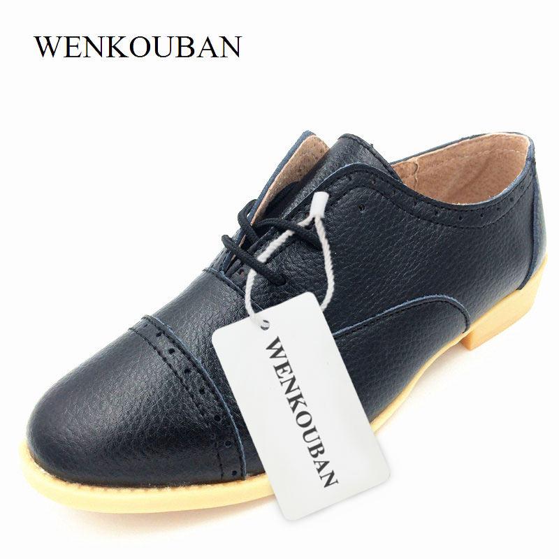 04dd191b790 Γυναικεία παπούτσια Designer Derby Shoes Women Flats Genuine Leather Female  Summer Oxford Black Flat Shoes Pointed Toe Derbies Femmes Chaussures