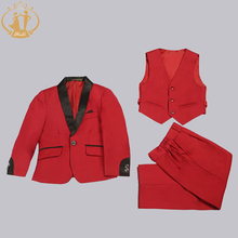Nimble boys fits for weddings costume enfant garcon mariage go well with for boy Single Button youngsters wedding ceremony go well with blazer boys promenade fits