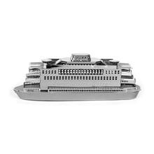 Staten Island Ferry 3D Metal Model Miniature Sculpture Jigsaw Puzzle Desk 3D Puzzle DIY Model Beautiful Tavern Puzzles