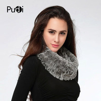 SCR017 new winter women scarf Genuine Knitted Rex Rabbit Fur Scarf Scarves Wrap Neck Warmer Shawl Stole snood