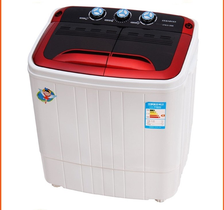 Mini Washing Machine Dehydration Drying With A Double Barrel