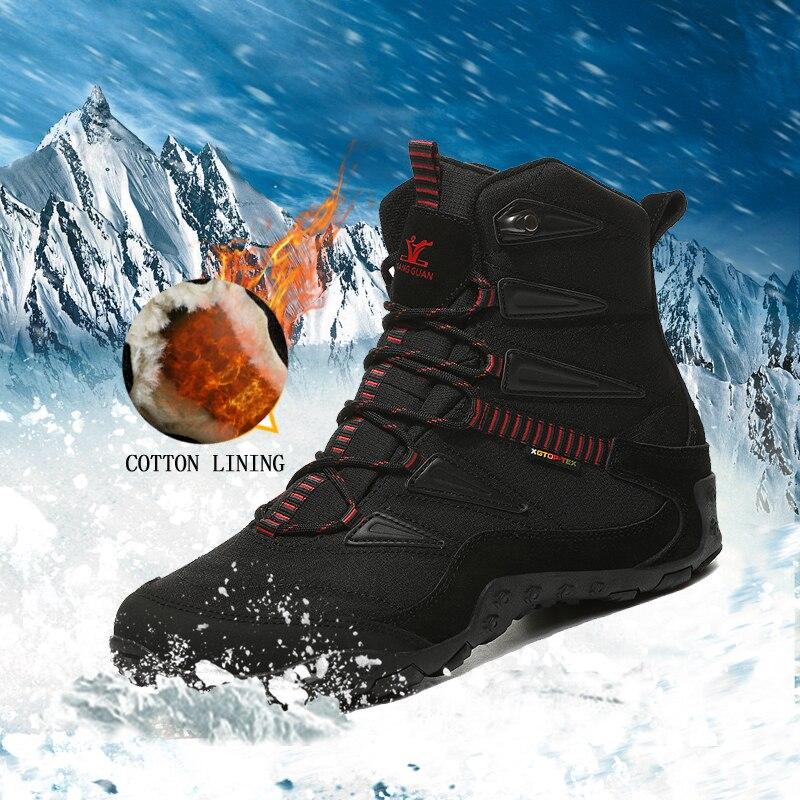 2018 nouveau hiver hommes chaussures de sport en plein air chaussures de sport anti-dérapant hommes doublure en coton chaussures de randonnée pour hommes chaud trekking chaussures femmes