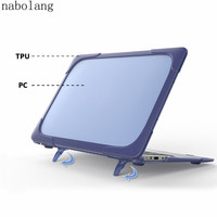 Nabolang New For Apple macbook Air 13 A1369 A1466 MD760 MD761 MD231 MD232 MD233 MD234 MC503 MC504 Double computer laptop case