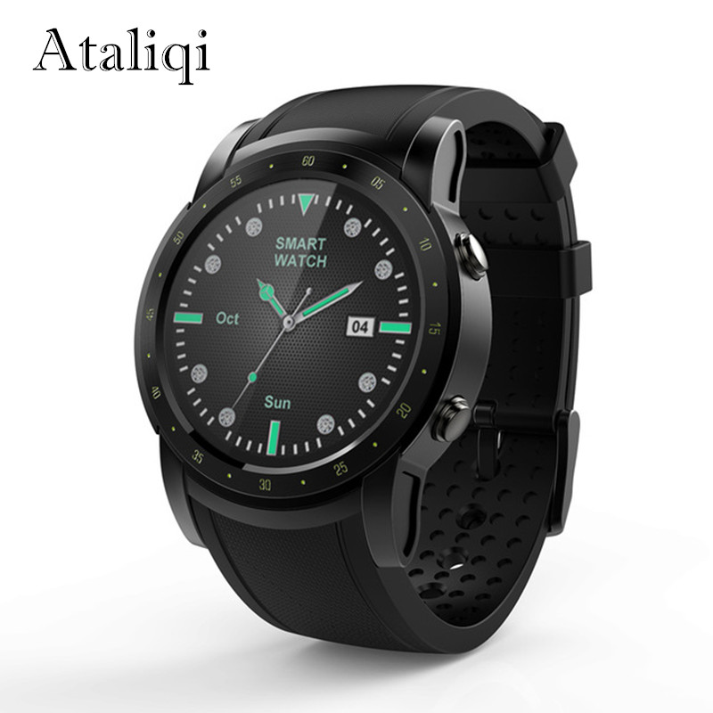 Ataliqi Android Smart Watch Men Support WIFI 3G SIM Card GPS Activity Fitness tracker Heart rate monitor Bluetooth Smartwatch цены