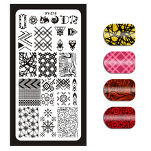 1Pc XYZ (016) Nail Stencils Nails Art Stamp Templates Plates for Gel Polish Manicure Image Plate Tools