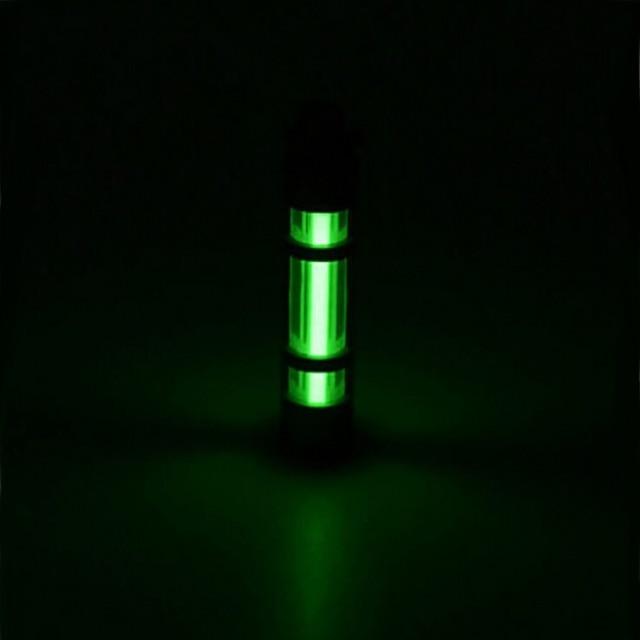 Автоматический свет 25 лет титана Тритий сплав брелок кольцо флуоресцентная трубка спасательный в экстренных ситуациях легкий сплав 500UL