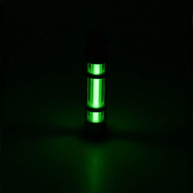 Automatic Light 25 years Titanium Tritium Alloy Keychain Key Ring Fluorescent Tube Lifesaving Emergency Alloy Lights 500UL