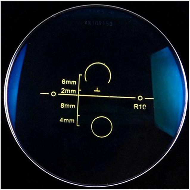 1.56 índice Anti reflexo claro lentes Varifocal lentes progressivas multifocais vidro óptico personalizado para os olhos