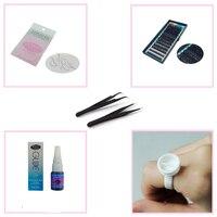 Eyelash Extension Kit cá nhân Tự nhiên False lông mi cá nhân đặt cá nhân Eyelash Glue Remover Fake Lông mi nhíp & Đứng