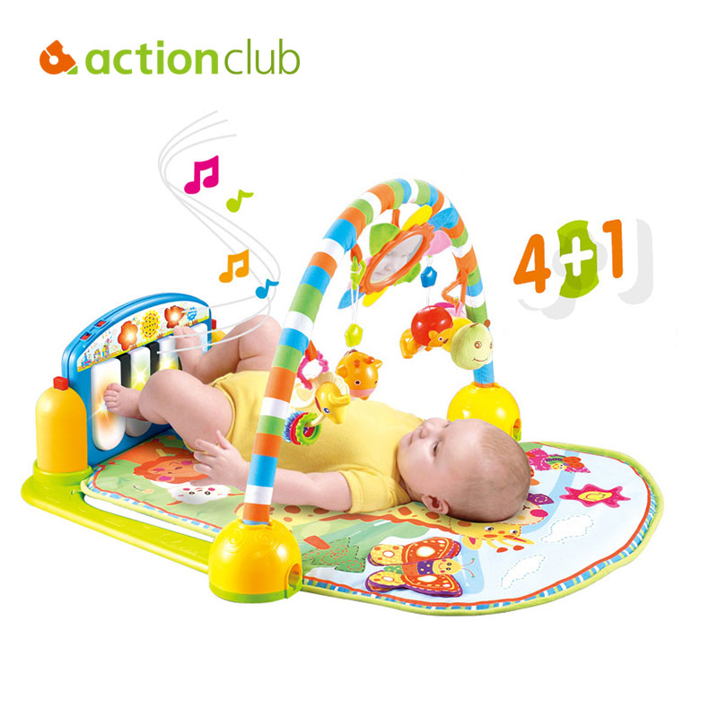 ФОТО Actionclub Baby Multi-functional Educational Game Toy Baby Music Gym Rack Soft  Kids Play mat Baby crawling Mat game Blanket