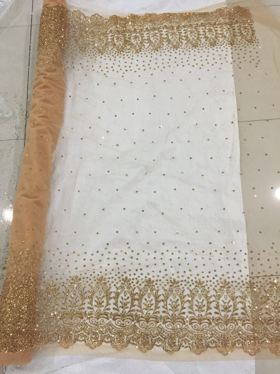 aso ebi style tulle net lace 5 Yards lot high quality CGL32402 african lace fabric with