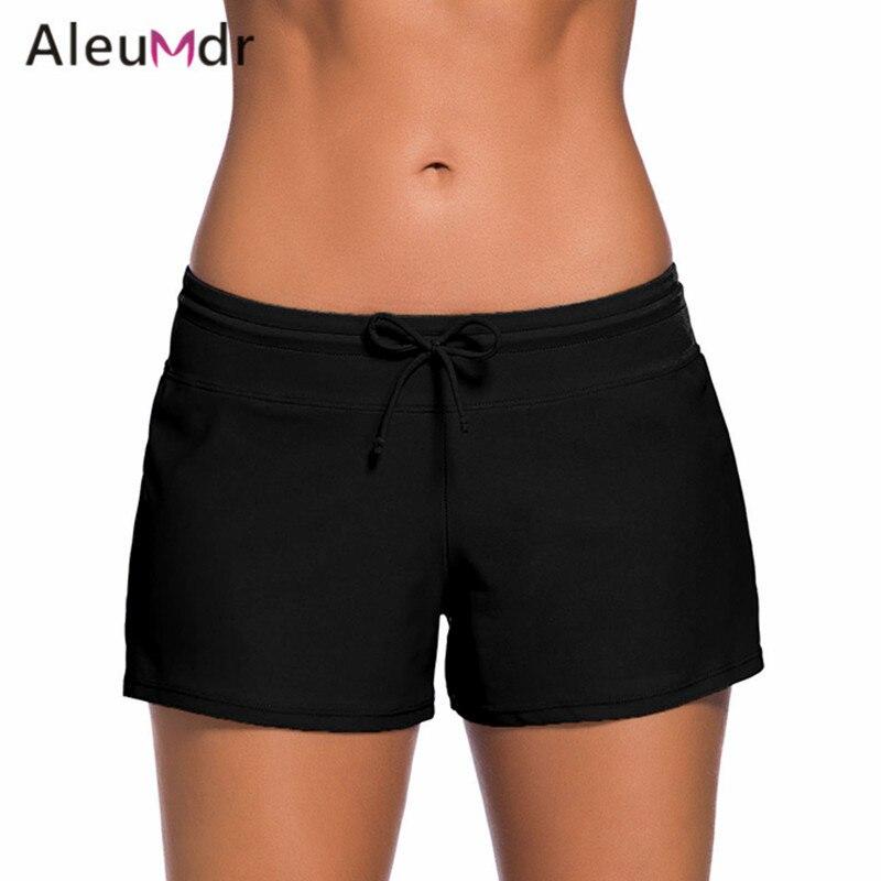 Aleumdr Bikini Bottoms brasileño de Boardshort Bikinis bragas Shorts de baño de dos piezas separa traje de baño LC41977