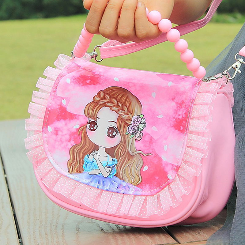 Elsa Y Anna Lovely Girls Hand Bag Toys Girls Bag Pu Leather Backpack Best Gifts For Adult Girl