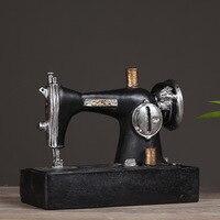 Retro doen oude Hars Naaimachine Model zitkamer Woondecoratie meubileringsartikelen bars winkel Ambachten