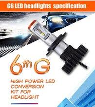 2x H7 H8 H9 H11 9005 9006 H10 Подлинная для Philips Чип автомобилей светодиодный налобный фонарь светодиодный свет лампы автомобиль-Стайлинг замена лампы