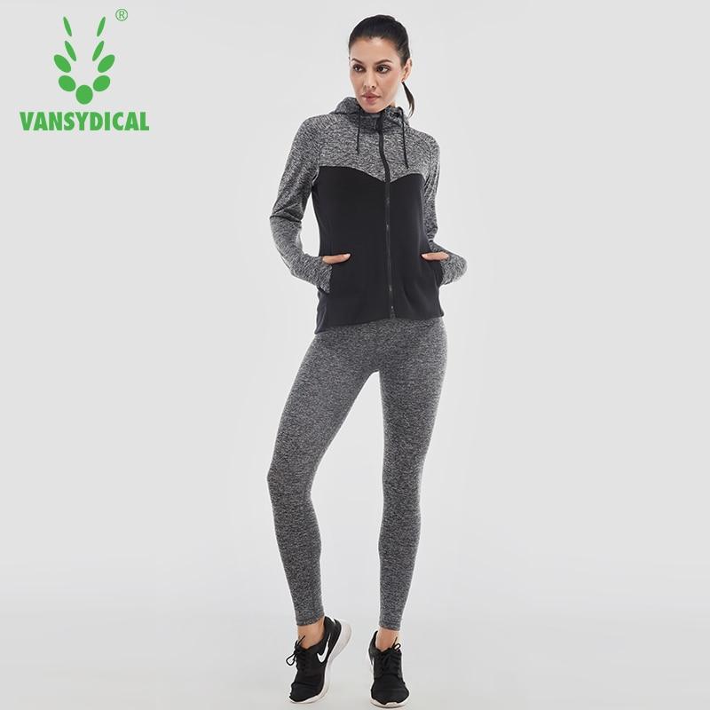Vansydical Femmes de Course Costumes Survêtement Femmes 4 pcs Gym Vêtements Femme  Sport Costumes De Yoga Legging Sport Soutien Gorge de Fitness Collants ... eba4b8732cc