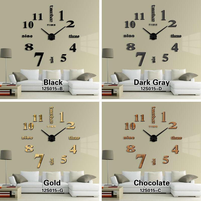 High Quality New Home Decorations Big Mirror Wall Clock Modern Design Large Decorative  Designer Wall Clock Watch Wall