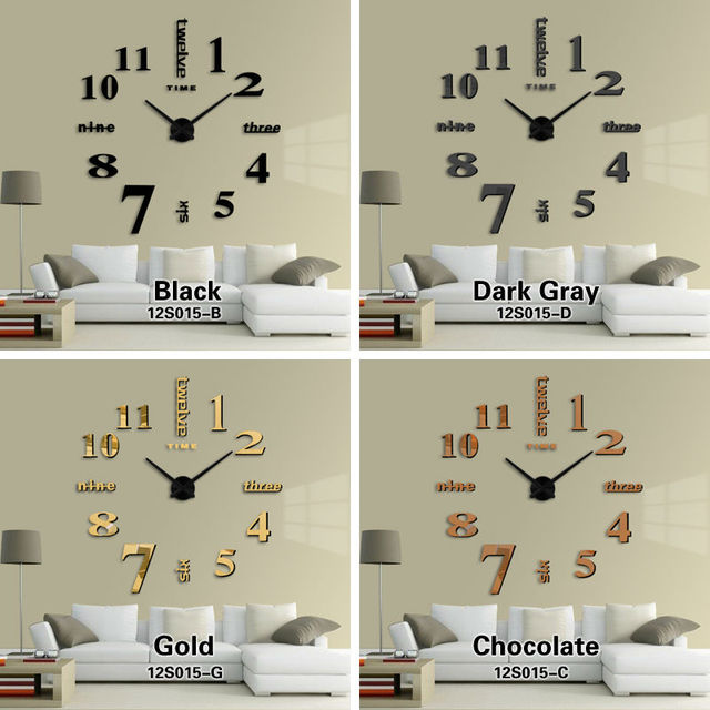 Superbe Neue Einrichtungsgegenstände Großen Spiegel Wanduhr Modern Design Große  Dekorative Designer Wanduhr Uhr Wandaufkleber Einzigartiges Geschenk
