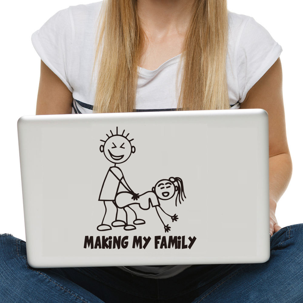 Making My Family Computer Stickers Creative Pattern Cartoon Laptop - Vinyl stickers for laptops
