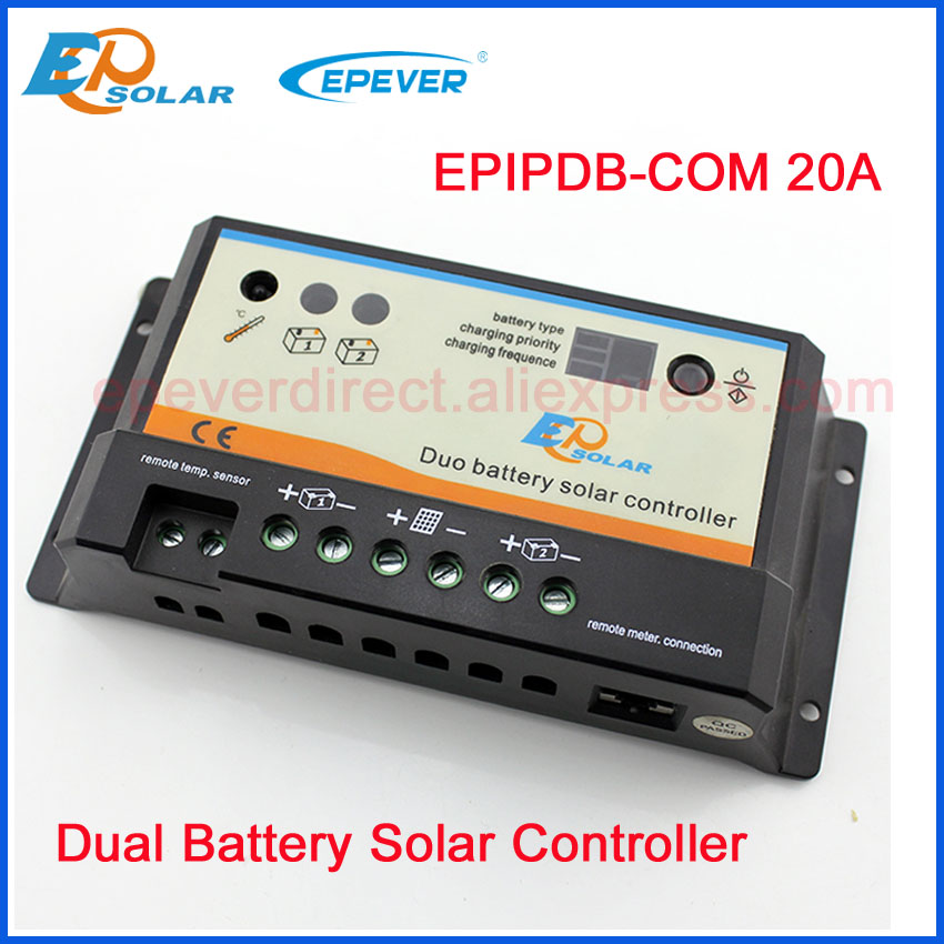EP seires EPIP-COM 20A controller EPEVER Free Shipping 12V/24V auto work Dual Battery charger solar controller PWMEP seires EPIP-COM 20A controller EPEVER Free Shipping 12V/24V auto work Dual Battery charger solar controller PWM